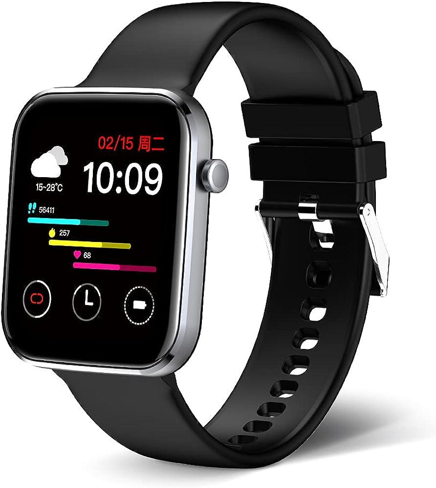 MEGIR Genuine Unisex Adult Max 89% OFF Fitness Sport Smart Inch Touc 1.69 Watch Full