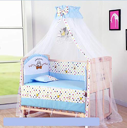 Buy HEEGNPD Baby Crib Bumper Soft Breathable Cotton Baby Crib Bed Protector for Children Bedding Bed...