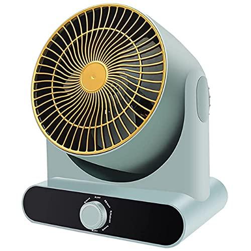WACZJ Ventilador Turbo Potente para la Circulación 3 Velocidades Ajustables Oscilante 60 ° Potente y silencioso para el Oficina Hogar Acampada