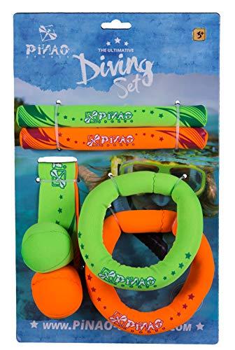 PiNAO Sports - Tauchset aus Neopren (56001) [Tauchringe, Diving Set, Tauchartikel, Tauchball, Gewichte,Tauchübungen]