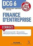 DCG 6 Finance d'entreprise - Réforme Expertise comptable 2019-2020 (2019-2020)