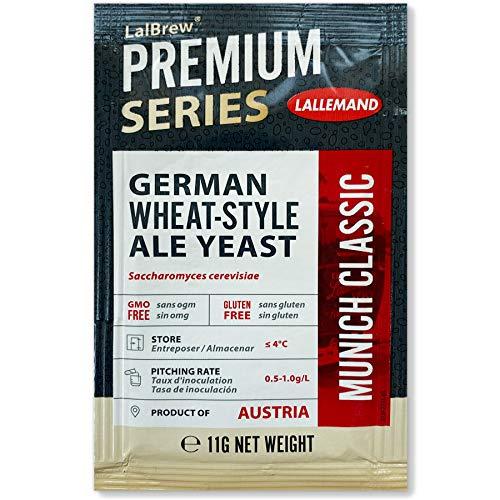 Lallemand Munich Classic Bierhefe, Brauhefe 11g Trockenhefe, für Hefeweizen, Lager, Pils, Export. Klassische Hefe mit neutralem Geschmack. Ideal für Hobbybrauer