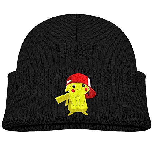 Children Pokemon Hip Hop Pikachu Beanie Cap Winter Hats Fleece Cap
