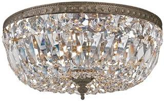 Crystorama 3 Light Bronze Spectra Crystal Ceiling Mount