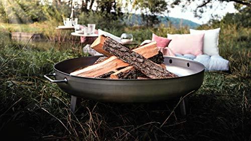 Czaja Stanzteile Feuerstelle Bonn Ø80cm - mit Wasserablaufbohrung - Feuerstelle für Draußen, Feuerschale für Terrasse und Garten…