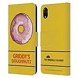 Head Case Designs Licenciado Oficialmente The Umbrella Academy Fresa Donuts Griddy Carcasa de Cuero Tipo Libro Compatible con Apple iPhone XR