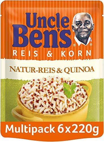 Uncle Ben's Express-Reis & Korn Natur Reis & Quinoa, 6 Packungen (6 x 220g)