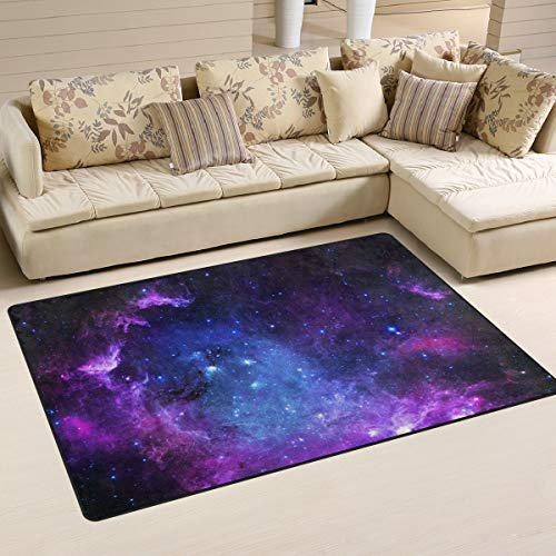 Use7 Universe Galaxy Nebula Outer Space Area Rug Rugs Carpet for Living Room Bedroom 100 x 150 cm(3 x 5 feet)