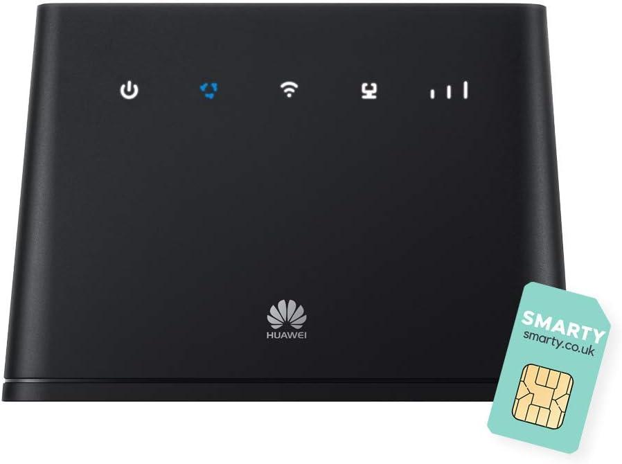 Huawei B535-4G 300Mbps Cat 7 Mobile WiFi Router, Desbloqueado a Todas Las Redes. Producto Original del Reino Unido (no de Red), con Tarjeta SIM ...