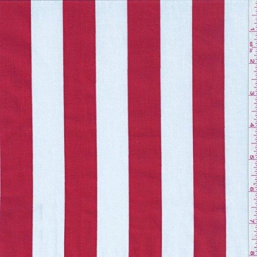 Amazoncom 60 Redwhite One Inch Stripe Print Fabric 15 Yards