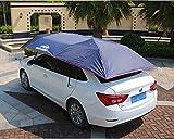 Xljh Automático Coche Exterior Carpa Paraguas Sombrilla Techo Cubierta de Tela Reemplazable Impermeable Anti UV Paraguas del Coche Sombra del Sol,Blue