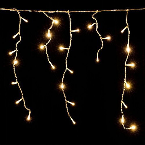 Deuba LED Lichterkette Regen 15m warmweiß 400 LED Innen Außen Lichterregen Regenlichterkette Weihnachtsdeko Weihnachten