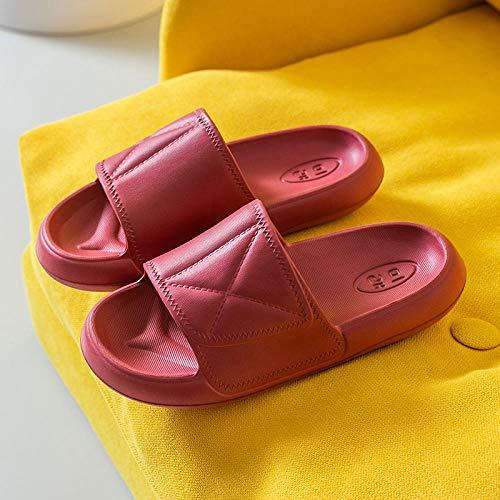 Zapatillas De Estar En Casa Hombre Cerradas,Chanclas De CuñA para Mujer,Zapatillas De Fondo Grueso Hogar Verano Interior
