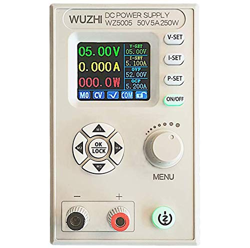 DC Netzteil Variable Digital Control Einstellbare Laborbank Geregeltes Netzteil mit 2 Clip Line 1,8 Zoll LCD-Bildschirm 4-Digit 30V 50V 5A