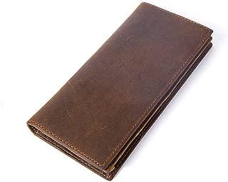 Men's Long Wallets Vintage Genuine Leather Bifold Wallet For Men
