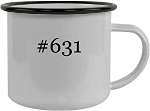 #631 - Stainless Steel Hashtag 12oz Camping Mug, Black