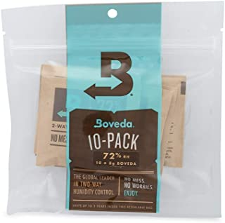 Boveda for Cigars/Tobacco | 72% RH 2-Way Humidity Control | Size 8 for Use with Up to 5..