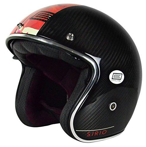 Origine Motorrad-Helm Sirio aus Carbonfaser, schwarz, M