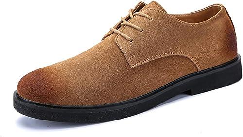 JIALUN-chaussures , Chaussures de Ville à Lacets Lacets Lacets pour Homme - Marron - Marron, 39 EU a07