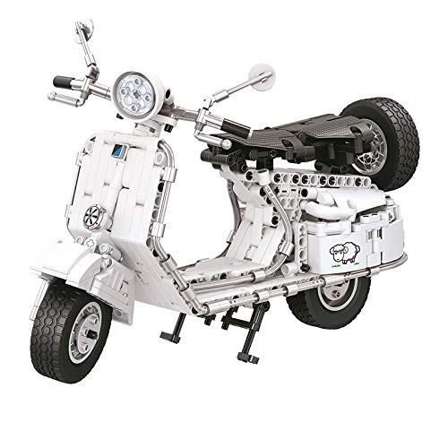 letaowl Bloques de construcción Toy City Technic Pedal Moto Modelo Bloque de construcción DIY Locomotora Ladrillo Juguetes Regalos para Niños Niños Nooriginalbox (A)