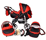 Baby Sportive - Sistema da viaggio 3 in 1 (carrozzina con ruote girevoli, seggiolino auto e...