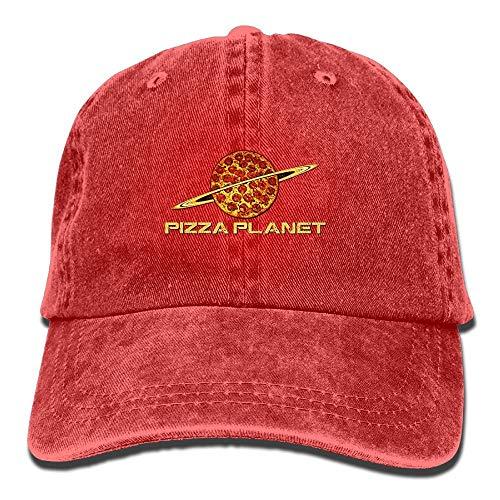 KOBB Pizza Planet Washed Retro Adjustable Denim Hat Sport Hat For Women And Men