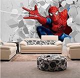 3d Enfants Fond D'écran, Peinture Murale Spiderman Pour La Chambre Des Enfants Salle Tv Toile De Fond Imperméable À L'eau Hauteur 250cm * Width175cm un