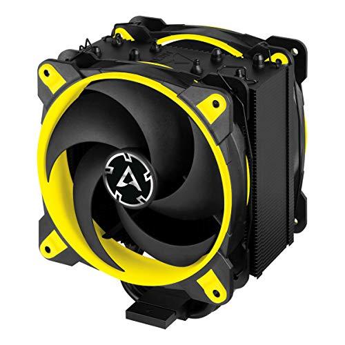 ARCTIC Freezer 34 eSports DUO - Dissipatore di processore semi-passivo con 2 ventole da PWM 120 mm per Intel e AMD, Dissipatore per CPU con raffreddamento - Giallo