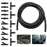 HENGBIRD Kit di riparazione per parabrezza da 5 m, tubo flessibile per auto, isolamento, tubo universale per lavavetri, con connettore per tubo, trasparente (L, Y, T modello)