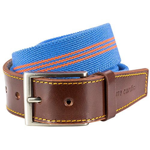 Pierre Cardin Mens Leather Belt/Mens Belt, textile belt, Größe/Size:95;Farbe/Color:bleu