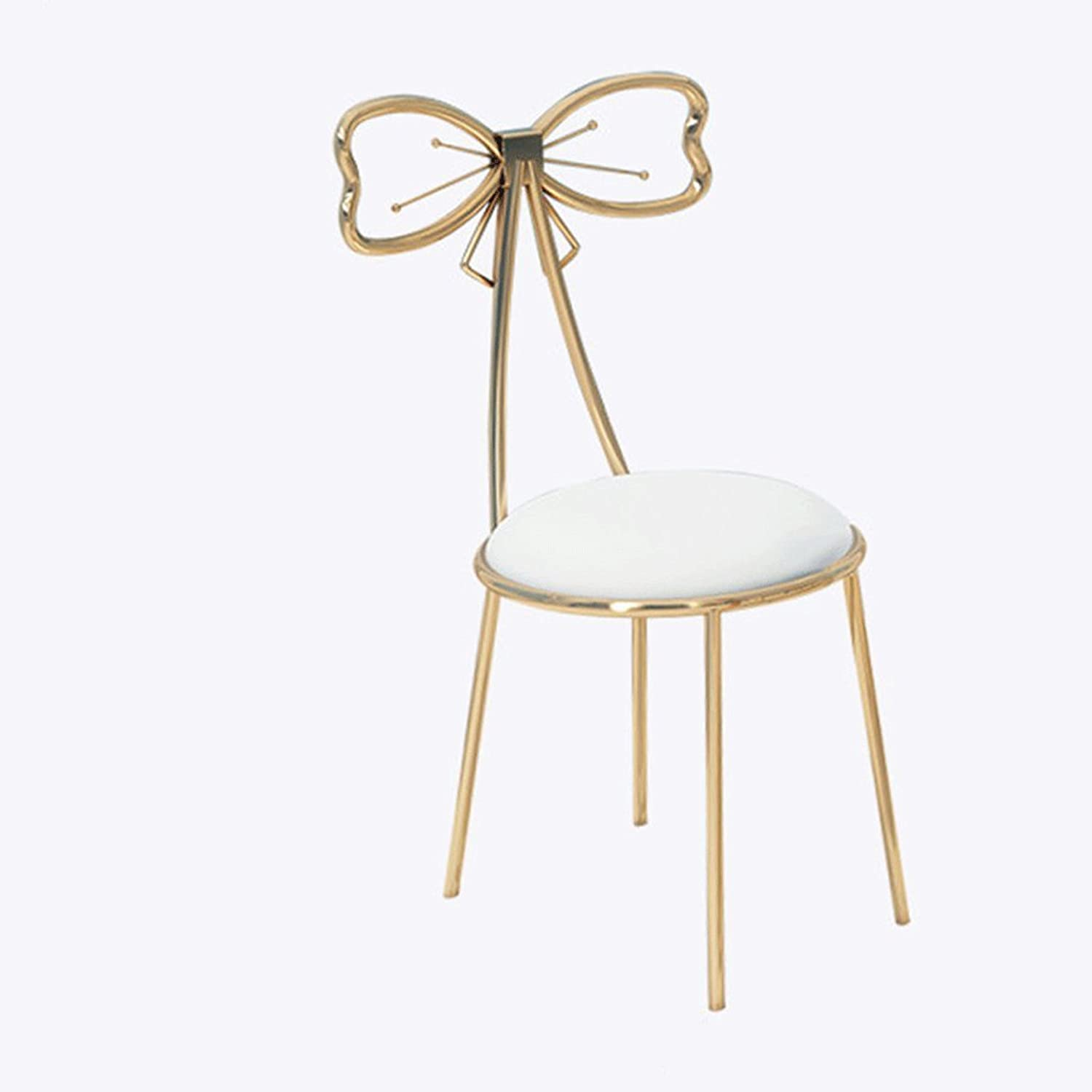 Nordic Wrought-Iron Bar Stool, Simple and Stylish Dining Chair, Creative Backrest Chair