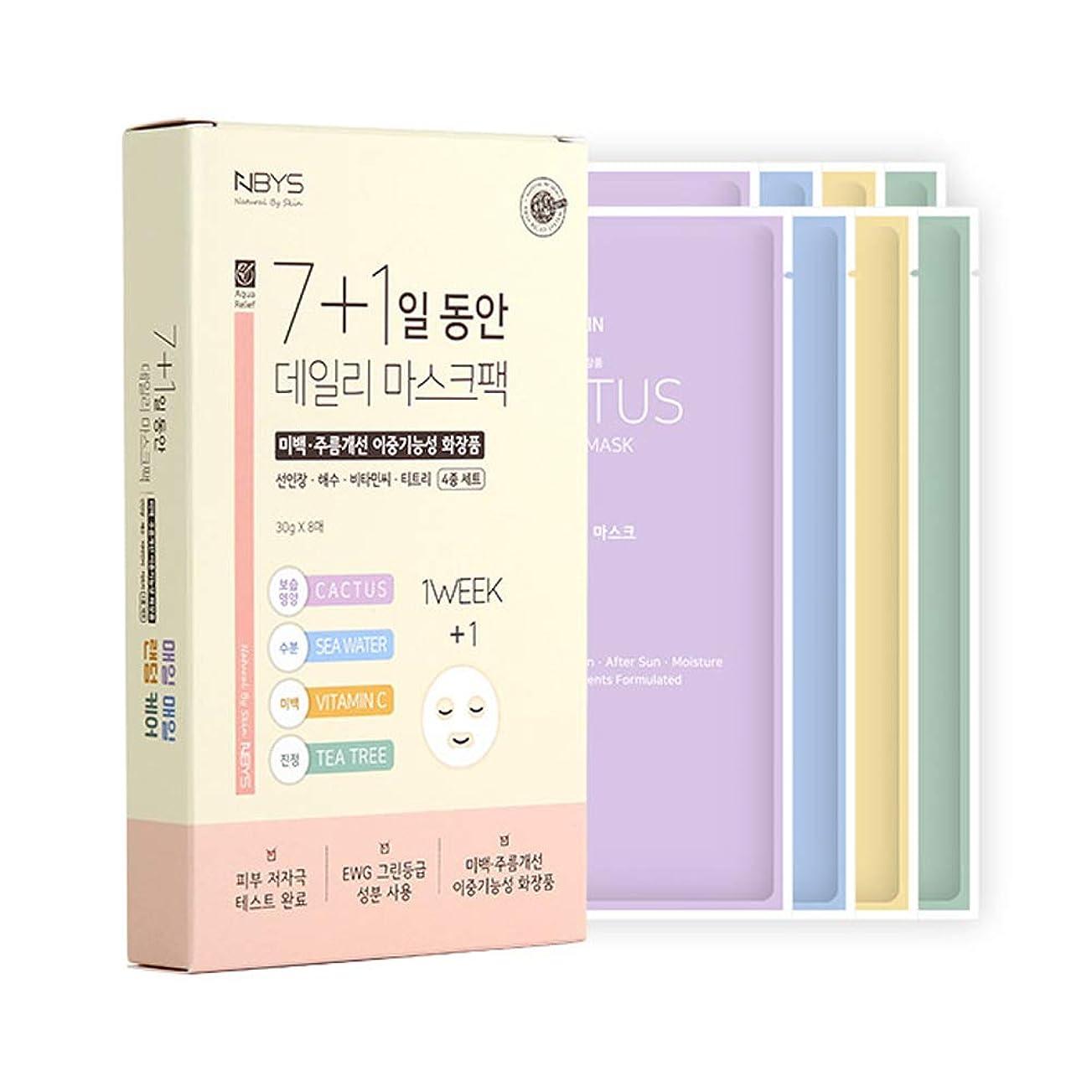 落とし穴木材オーバーフロー[NBYS] 7+1 NBYS RE Your Skin Mask フェイスパック 8枚セット [並行輸入品]