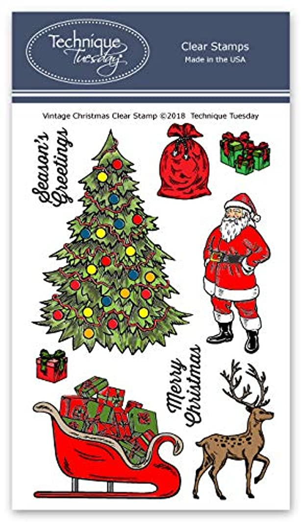 Vintage Christmas Clear Stamps |Christmas Stamps - Photopolymer Stamps - Clear Rubber Stamps | Stamps for Card Making