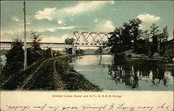 Windsor Locks Canal and N.Y, N.H.R.R. Bridge Windsor Locks, Connecticut Original Vintage Postcard