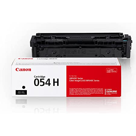 Canon Genuine Toner, Cartridge 054 Black, High Capacity (3028C001) 1 Pack, for Canon Color Image CLASS MF641Cdw, MF642Cdw, MF644Cdw, LBP622Cdw Laser Printers, Black High Capacity