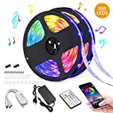 Ruban LED bluetooth Intelligent, VITCOCO Bande LED(2x5M) 300 Leds 5050 RGB IP65 Étanche,...