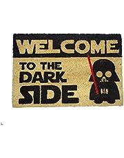 koko doormats Felpudo de Star Wars para Entrada de Casa Original y Divertido/Fibra Natural de Coco con Base de PVC, 40x60 cm (C-Welcome to The Dark Side)