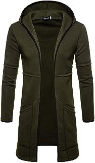 Men's Hoodies, Long Trench Coat Casual Cardigan Jacket Outwear Autumn