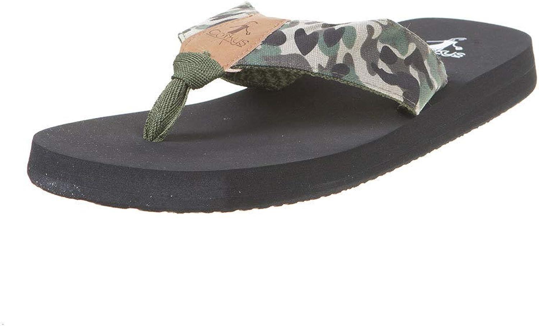 Corkys Trail Flip Flop Camo Womens Sandals