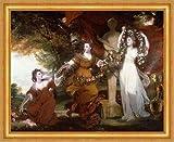Kunstdruck Three Ladies Adorning a Term of Hymen Joshua Reynolds B A3 02722 - Marco para mujer