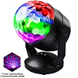 CCHKFEI Sound Activated Party Lights for Outdoor and Indoor, Battery Powered/USB Plug in, Dj Lighting, RBG Disco Ball, Strobe Light Stage Lamp for Car Room Parties Birthday Club Bar