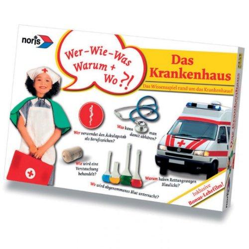 noris Das Krankenhaus Wissensspiel inkl. DVD Fragespiel Kartenspiel für Kinder NEU