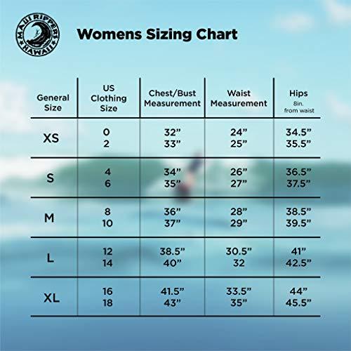 "Maui Rippers Women's 4-Way Stretch 5"" Swim Shorts Boardshorts (12, Black)"