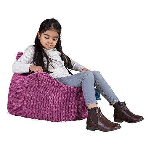 Lounge Pug®, Puff Sillón para niños, Pompón - Rosa