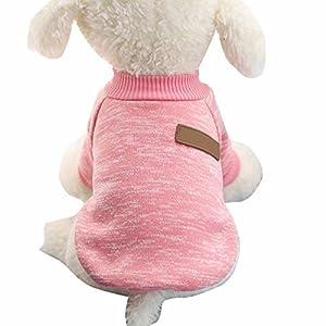 Nibesser Vetements T-shirt Pull Over pour Chien en Conton avec Rayures Couleur Cute Vivant Pour l'Hiver Noel Decore pour Animal de Compagnie