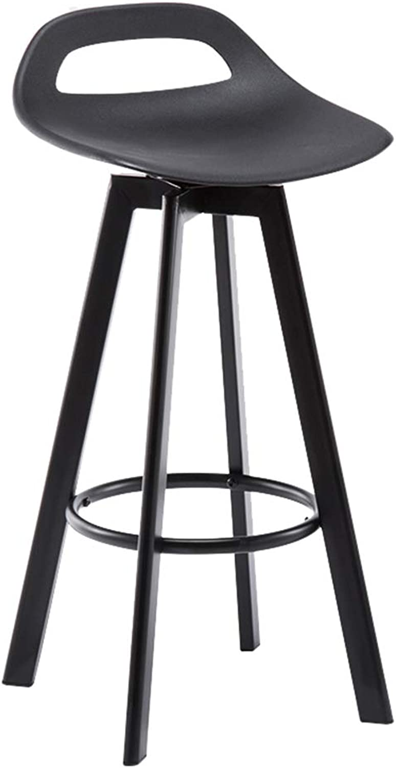 NLLPZ-STOOL Home Furniture Iron Bar Stool Can Be redated Modern Simple High Stool Home Kitchen Breakfast Stool Chair Black (Sitting Height  60 72  83CM) (Size   Sitting Height 60cm)