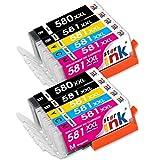 st@r ink - Cartucce d'inchiostro 580 581 XXL per Canon PGI-580XXL CLI-581XXL Compatibile per Stampante Canon Pixma TS6350 TR7550 TR8550 TS6150 TS6151 TS6250 TS9550 TS9551C TS705, 10 Confezioni