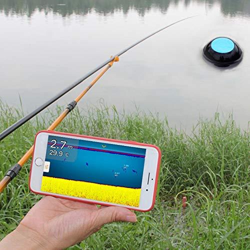 Xianxian88 Unterwasser-Angelkamera, drahtlose WiFi tragbare Taucherfischer-Kamera, Infrarot-LED Wasserdichte Kamera, geeignet für Eissee-Seeschifffahrt Kajakfischen