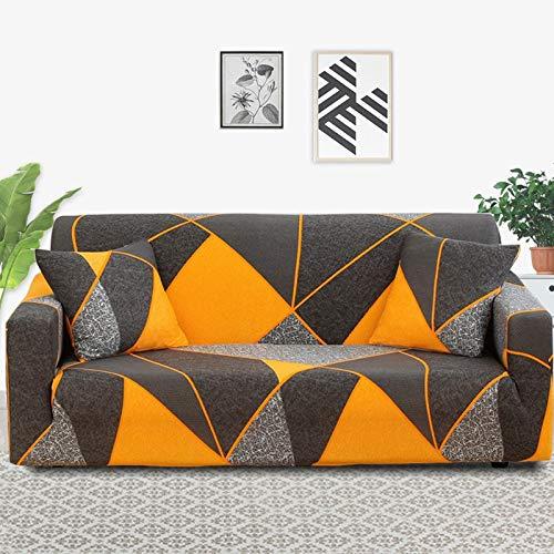 Funda de sofá de Sala de Estar geométrica Multicolor, Material elástico, Funda de sofá de Dos plazas, Funda de sofá, Funda de sofá A24 de 4 plazas