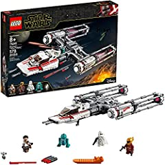 Build, play with and display a collectible missile-firing, bomb-dropping LEGO Star Wars Resistance Y-wing advanced starship model, featuring a new-for-October-2019 color scheme as seen in the Star Wars: The Rise of Skywalker movie This collectible St...